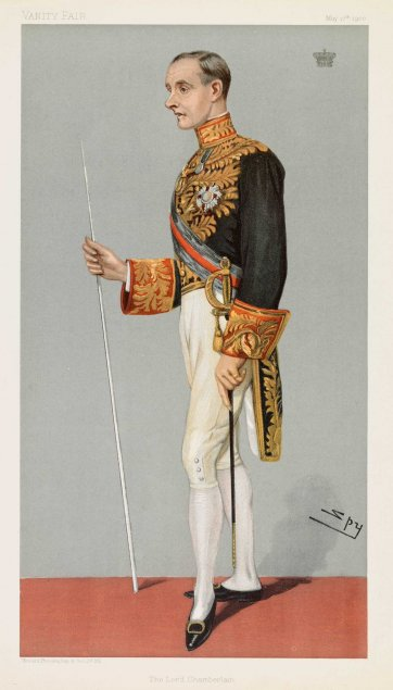 """The Lord Chamberlain""  Earl of Hopetoun John Adrian Louis Hope (Image plate from Vanity Fair), 1900 by Sir Leslie Ward"
