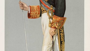 """The Lord Chamberlain""  Earl of Hopetoun John Adrian Louis Hope (Image plate from Vanity Fair), 1900 Sir Leslie Ward"