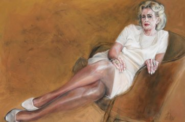 Portrait of a Lady (Sonia McMahon), 1999 by Esther Erlich