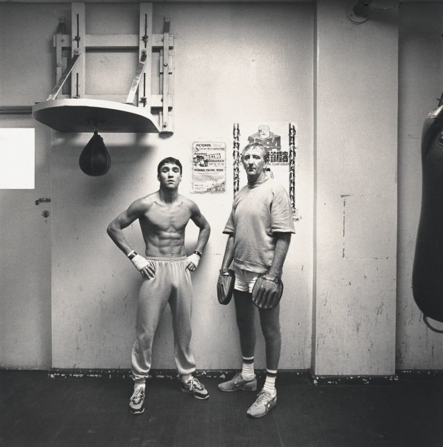 Jeff Fenech and trainer, John Lewis
