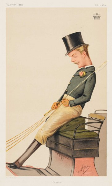"""Charlie"" Lord Charles Robert Carrington (Image plate from Vanity Fair), 1874 by Carlo Pellegrini"