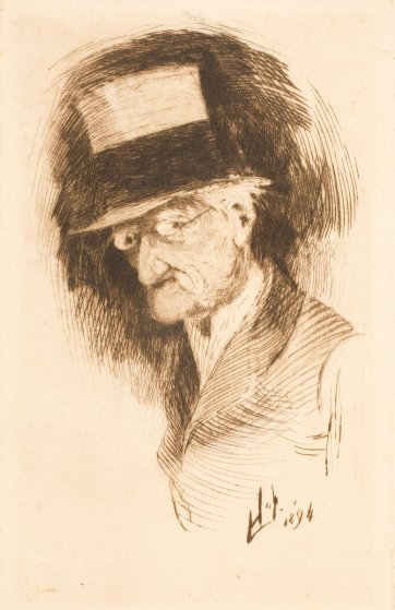 Self portrait, 1894 by Livingston Hopkins