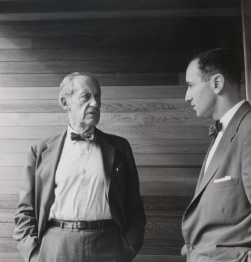 Walter Gropius and Harry Seidler, 1954 by Max Dupain