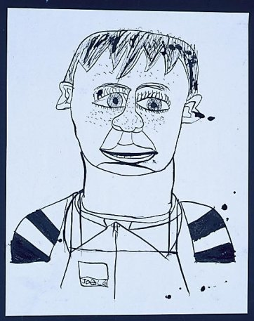 Self-portrait In Apron, 2002 by Joel Gaudiosi