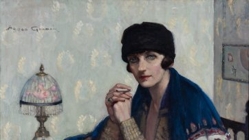 Girl with Cigarette, c. 1925 by Agnes Goodsir
