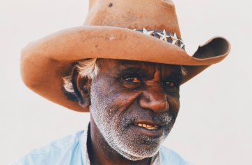 Tim Riley, Santa Teresa Mission, near Alice Springs, 1965 (printed 2000) by David Moore